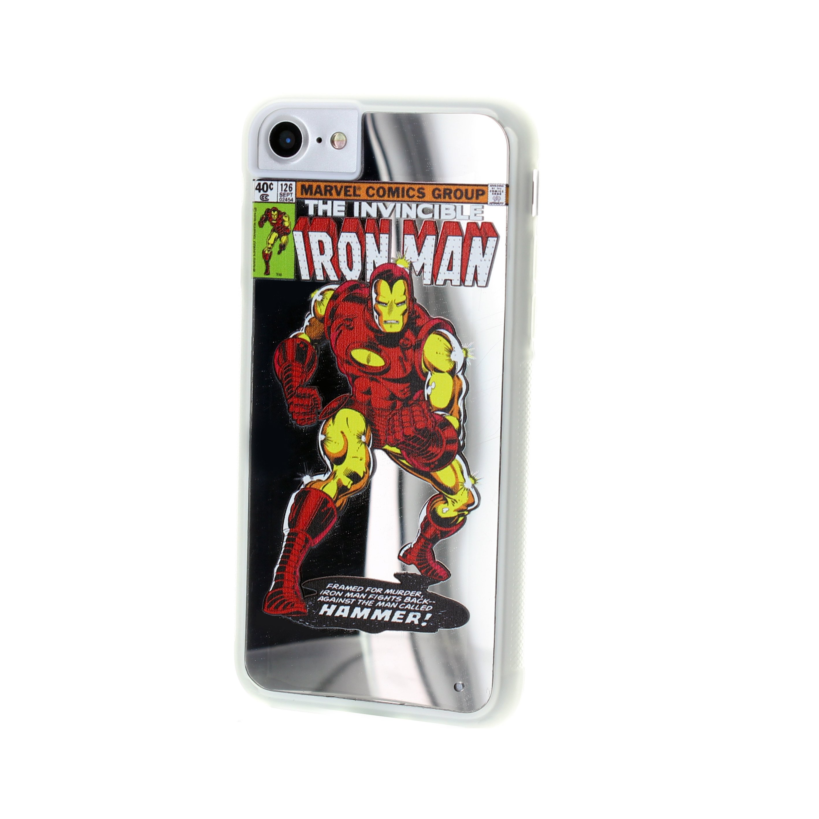 iPhone 6/7/8 Iron Man Marvel Comics Mirror Case Image