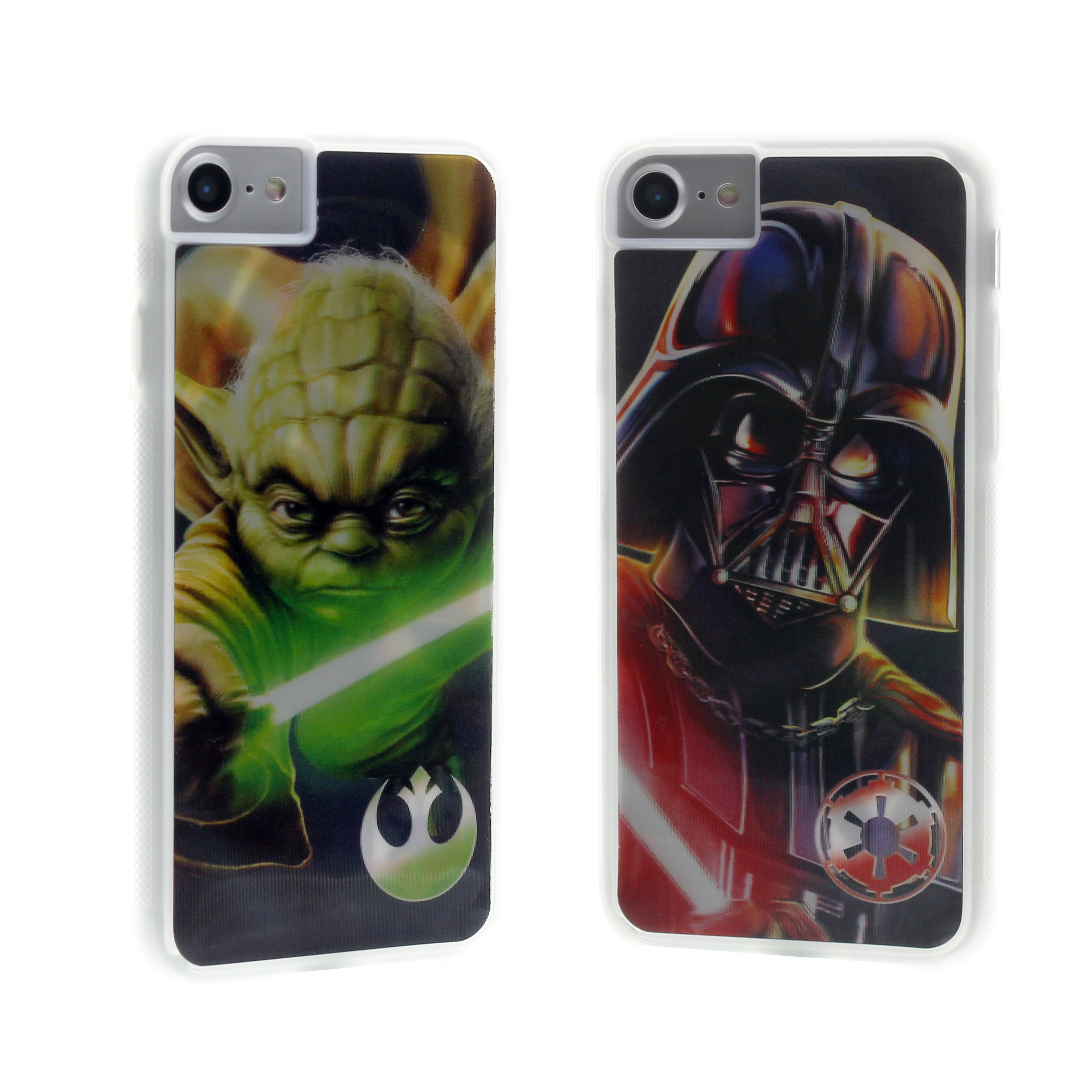 iPhone 6/7/8 Star Wars Yoda/Vader Lenticular Case Image