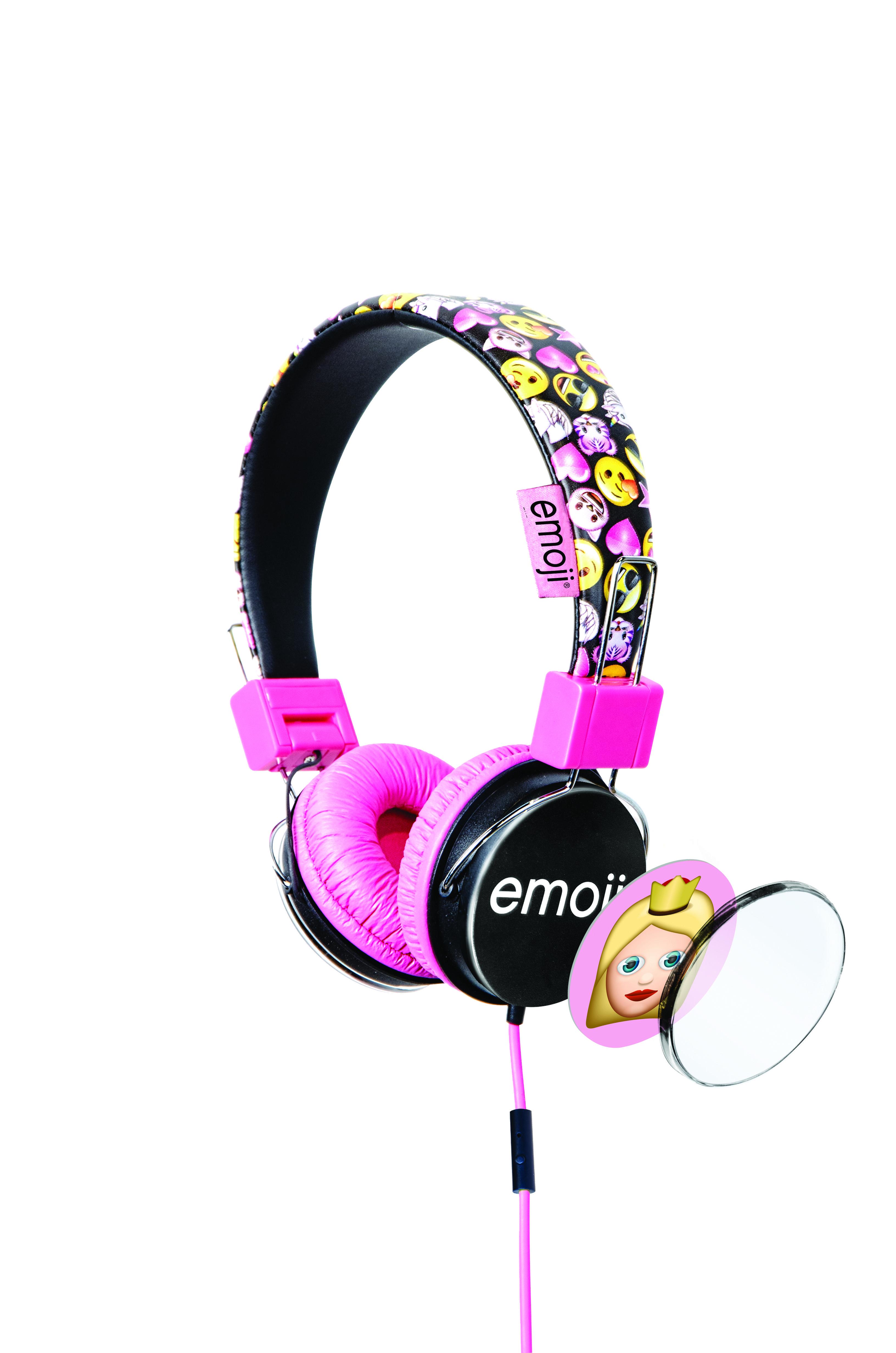 Emoji Flip N Switch Headphones - Pink Image